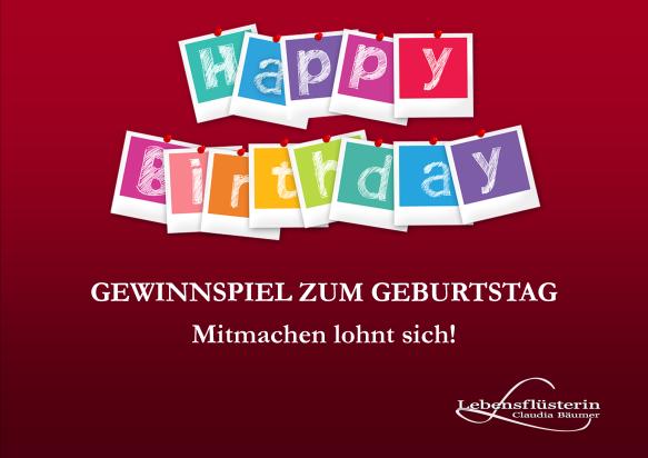 Gewinnspiel Geburtstag www.lebensfluesterin.com